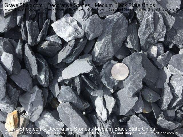 Medium Black Slate Chips